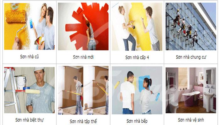 dịch vụ sơn nhà giá rẻ tại 5 sạch