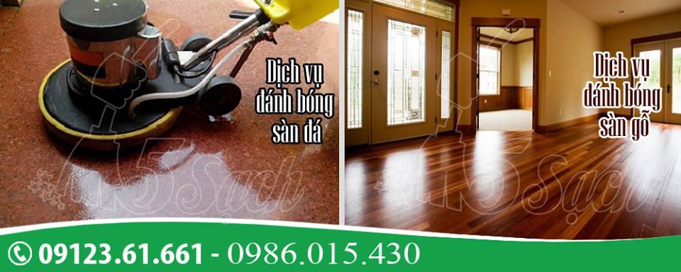 5 Sạch là địa chỉ đánh bóng sàn gỗ chất lượng với giá tốt nhất thị trường