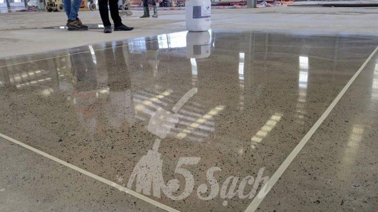 Bạn có thể lựa chọn dịch vụ mài bóng sàn bê tông tại 5 Sạch