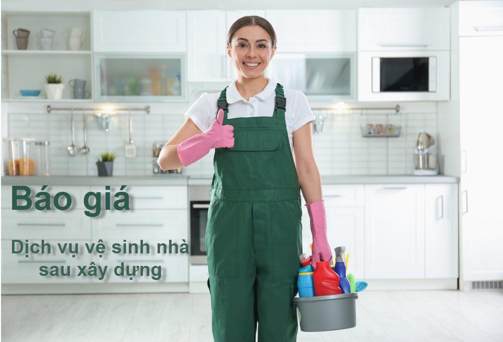 Báo giá dịch vụ vệ sinh nhà sau xây dựng