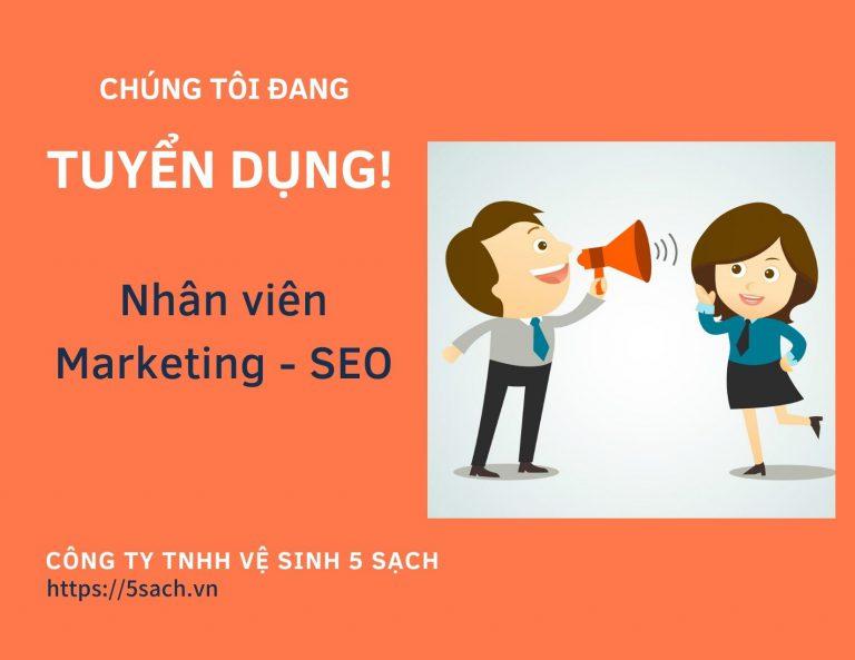 5 Sạch tuyển dụng nhân viên SEO marketing