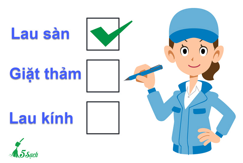 Checklist công việc vệ sinh