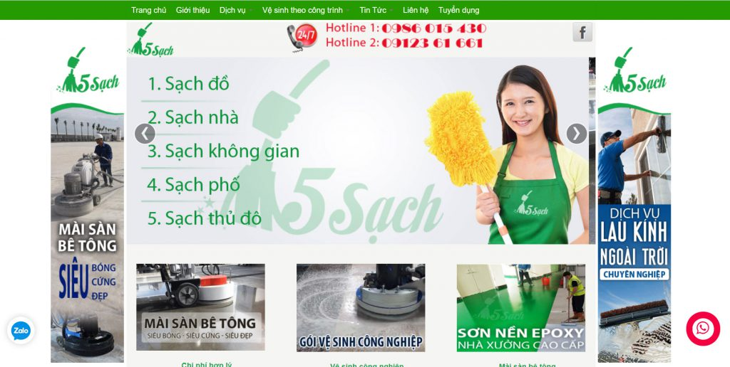 Công ty vệ sinh 5 Sạch