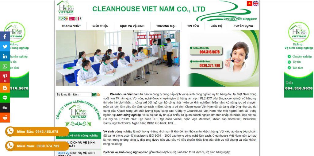 Công ty vệ sinh công nghiệp Cleanhouse