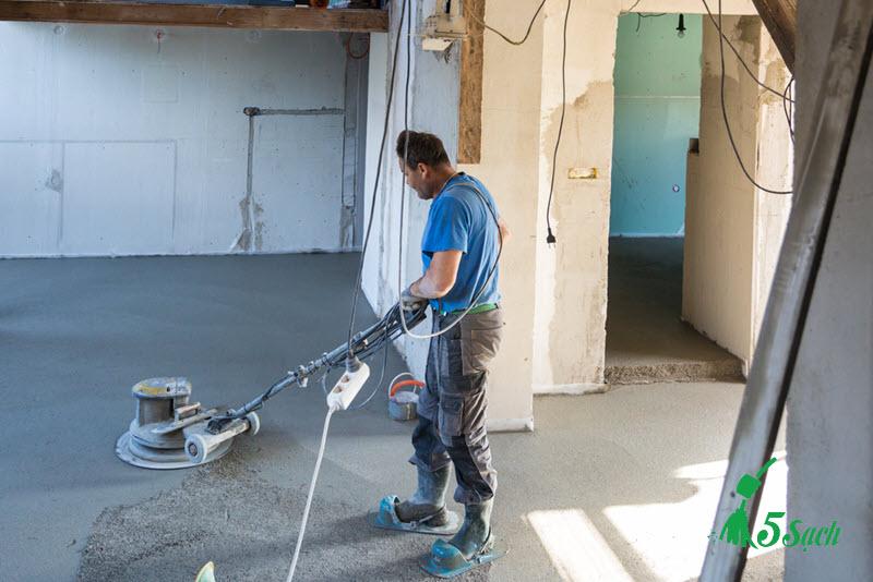Đánh bóng nền bê tông và phủ cứng