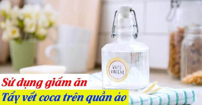 Cách tẩy vết nước ngọt trên áo trắng