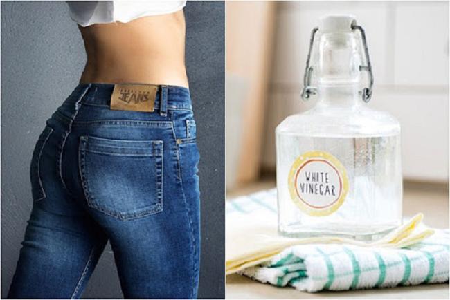 Sử dụng giấm ăn để tẩy vết cà phê trên quần jean hiệu quả