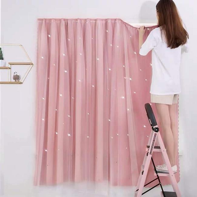 Cách tháo rèm cửa vải