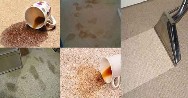 Một số vết bẩn thường gặp trên thảm
